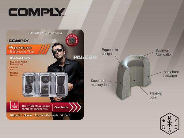 Comply T100 T-100 耳道海棉 (1盒3對) Westone Shure [My Ear 台中耳機專賣店]