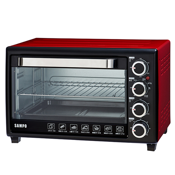 ◤A級福利品‧數量有限◢SAMPO 聲寶 30L 雙溫控油切旋風烤箱 KZ-SF30F