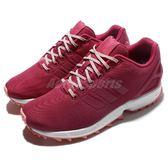 【六折特賣】adidas 休閒慢跑鞋 ZX Flux Trail W 粉紅 白 大鋸齒 鞋底設計 基本款 女鞋【PUMP306】 S76633