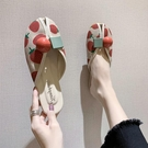 魚口鞋 草莓拖鞋女夏外穿2021年新款女鞋平底外出包頭半拖魚嘴涼拖ins潮 韓國時尚週 免運