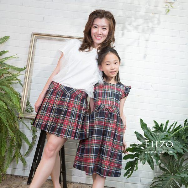 【EIIZO】英倫格紋質感親子裝(台灣布料台灣製造)