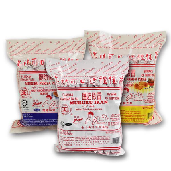 馬來西亞 寶寶豆餅(魚肉/甜辣/辣雞)12g*30入/袋