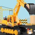 挖掘機玩具 大號挖掘機耐摔鉆地車挖土機勾機兒童男孩玩具車沙灘工程車【快速出貨八折搶購】