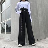春裝2019款女韓版原宿bf風寬鬆百搭顯瘦個性街頭垂感寬管褲長褲潮   可可鞋櫃