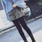 毛呢短褲 韓版鬆緊腰毛呢短褲女秋冬呢子闊腿短褲高腰顯瘦加厚寬鬆外穿靴褲 小宅女