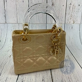 BRAND楓月 Christian Dior 迪奧 緞面 透明提把 迷你 LADY DIOR 手提包