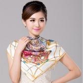 絲巾 真絲質方巾-優雅古典女性披肩4色71s58【巴黎精品】