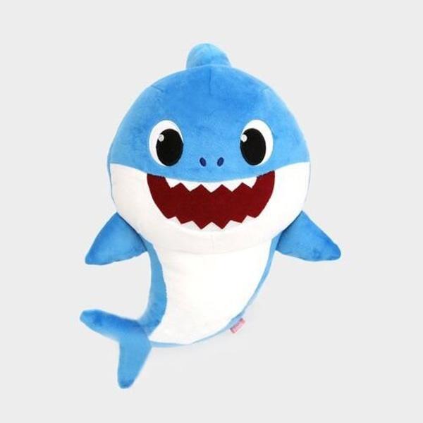 特價 WowWee Pinkfong BABY SHARK 鯊魚家族 發聲絨毛 藍色 TOYeGO 玩具e哥