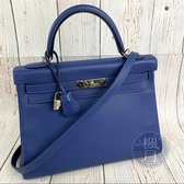 BRAND楓月 HERMES 愛馬仕 C刻 KELLY32 藍紫 斜挎包 凱莉包 手提包