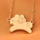 玫瑰金純銀項鍊-可愛小羊流行生日情人節禮物女飾品71x129[巴黎精品]