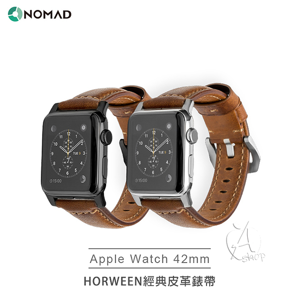 【A Shop】NOMAD x HORWEEN皮革 Apple Watch 經典皮革錶帶 42 / 44 mm (經典款) For series 5/4/3/2