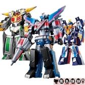 兒童禮物巨神戰擊隊玩具兒童機器人男孩2太陽戰擊王星球天星合體金剛變形LXY6619【黑色妹妹】