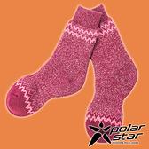 【PolarStar】羊毛保暖雪襪『酒紅』P19609 露營.戶外.登山.羊毛襪.保暖襪.彈性襪.休閒襪.長筒襪.襪子