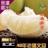 《普明園》 (買二送二)AA級台南麻豆40年老欉文旦 (5台斤/箱)【免運直出】