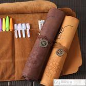 鉛筆盒 文具盒男女韓國簡約多功能大容量卷筆簾初中學生小學生創意鉛筆袋 居優佳品