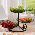 果盤 三層水果盤客廳北歐多層干果盤現代簡約創意水果籃零食極簡點心盆 【快速出貨】