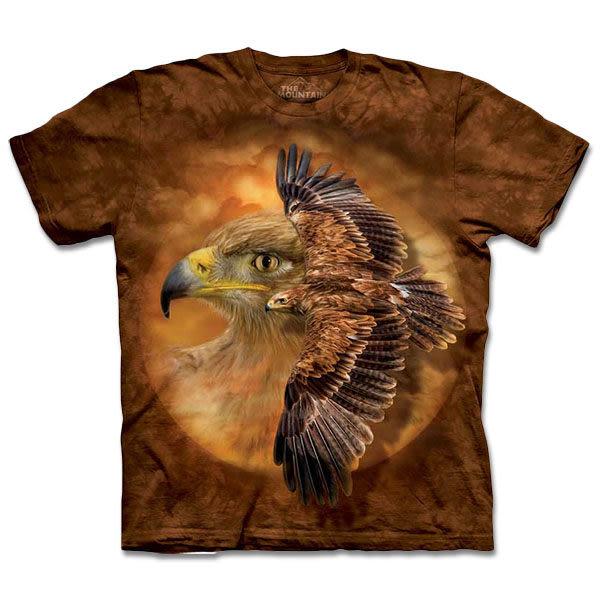 【摩達客】 (預購) 美國進口【The Mountain】自然純棉系列 棕鷹精神 T恤(10413045126a)