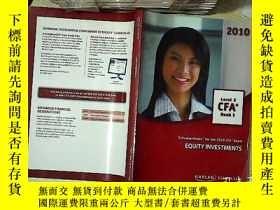 二手書博民逛書店EQUITY罕見INVESTMENTS LEVEL 2 BOOK 3 2010 CFA  股權投資2級第3冊201
