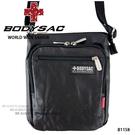 黑色過膠帆布機能性小側背包  AMINAH~【BODYSAC B1158】