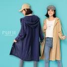 限量現貨◆PUFII-外套 連帽排釦休閒棉麻長版外套-0908 現+預 秋【CP19040】