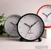 簡約鬧鐘靜音簡約床頭鐘錶個性學生女韓版可愛小鬧鐘迷你臥室 花樣年華