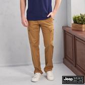 【JEEP】鬆緊織帶造型口袋工作褲(深卡其)