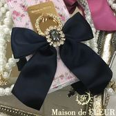 Maison de FLEUR ♡ 蝴蝶結緞帶鑲鑽手機指環 - Maison de FLEUR