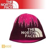 【The North Face 童 雙面保暖帽《葡萄酒紫》】A6X3/毛帽/保暖針織帽/冬季