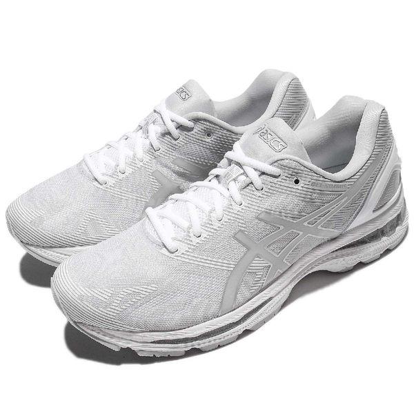 【五折特賣】Asics 慢跑鞋 Gel-Nimbus 19 灰 白 避震穩定 運動鞋 男鞋 【PUMP306】 T700N9693