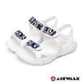 【AIRWALK】減壓緩震輕量休閒涼鞋(白)-童