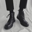 馬丁靴男款 男士真皮馬丁靴高幫英倫風百搭增高韓版皮靴情侶復古機車中幫潮鞋