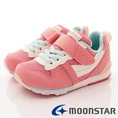 日本月星Moonstar機能童鞋HI系列寬楦頂級學步鞋款2121S24玫瑰粉(中小童段)