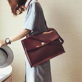 商務包大包包2019韓版時尚公文包復古簡約百搭女包潮時尚側背斜背包  愛麗絲精品