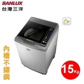 【台灣三洋家電】17kgDD直流變頻單槽洗衣機 內外不鏽鋼(淺灰)《SW-17DV10》省水