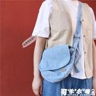 牛仔包 帆布包女新款潮復古牛仔布單肩包學生韓版chic簡約郵差百搭斜挎包 快速出貨