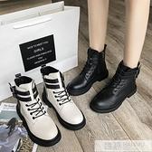 馬丁靴女英倫風2020春夏薄新款百搭機車厚底短筒靴子黑色帥氣短靴  4.4超級品牌日