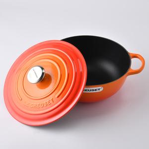 Le Creuset 琺瑯鑄鐵媽咪鍋 26cm 4.1L 火焰橘 法國製