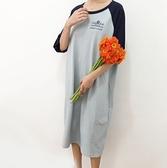 BabyShare時尚孕婦裝【J18165】現貨 孕婦裝 長版裙 東大門 韓國歐膩風 加大尺碼 哺乳短袖T恤裙