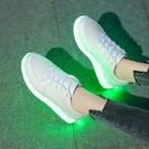 防潑水七彩發光鞋閃光燈鬼步鞋男女款充電熒光夜光鞋板鞋