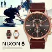 NIXON THE SENTRY CHRONO 42mm/男女兼用/軍事風格/A405-2001 現貨+排單!