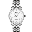 MIDO 美度 Baroncelli 復刻羅馬機械手錶-白x銀/38mm M86004261