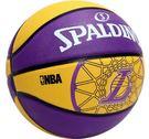 《下殺6折》Shoestw【SPA83156】斯伯丁籃球 SPALDING 隊徽球 室外基本款 洛杉磯 湖人隊