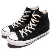 Converse Chuck Taylor All Star 黑 白 特殊鞋帶孔 特殊圖騰後跟 帆布鞋 高筒 女鞋【PUMP306】 555883C