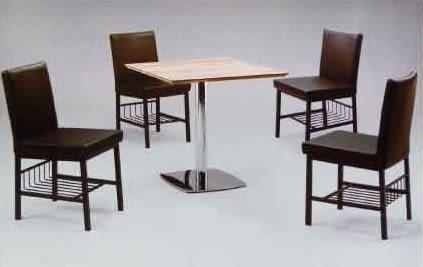【南洋風休閒傢俱】75方美耐桌+康特餐椅 造型椅 洽談椅 休閒椅  餐椅 (574-9)