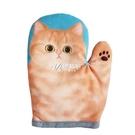 隔熱手套 可愛萌貓咪爪微波爐隔熱手套廚房烘培烤箱加厚升級