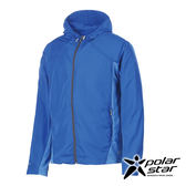 PolarStar 中性 休閒抗UV連帽外套  防曬外套休閒外套吸濕排汗外套登山健走路跑外套-P17105 『海藍』