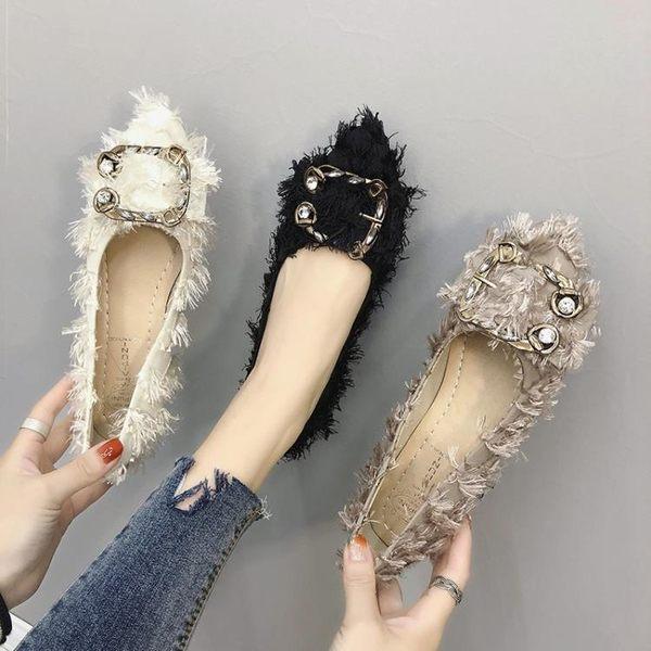 豆豆鞋 網紅單鞋子女春季新款溫柔晚晚鞋百搭平底鞋仙女豆豆鞋女鞋潮 曼慕衣櫃