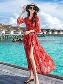 波斯米亞沙灘裙東南亞泰國游玩女裝出去玩的服裝衣服旅游拍照裙子 韓美e站