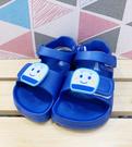 【震撼精品百貨】Shin Kan Sen 新幹線~台灣製新幹線正版兒童矽膠涼鞋-藍(13-18號)#20319