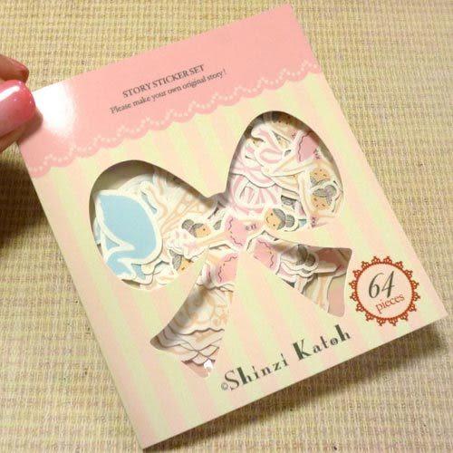★funbox生活用品★《Shinzi Katoh 加藤真治》芭蕾女孩散裝貼紙64枚_ZI02602